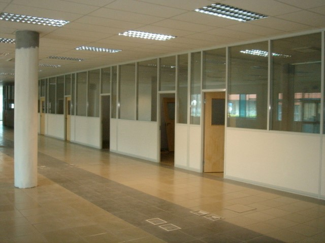 Fastwall framed glass partitioning